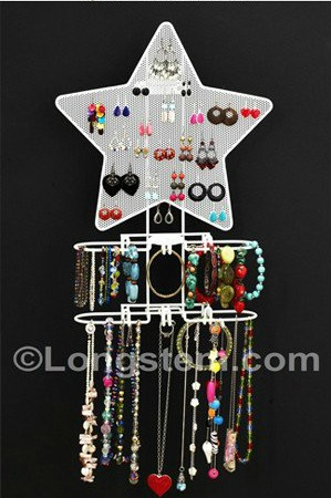 The Funky Monkey Star and Heart Jewelry Organizer from Longstem