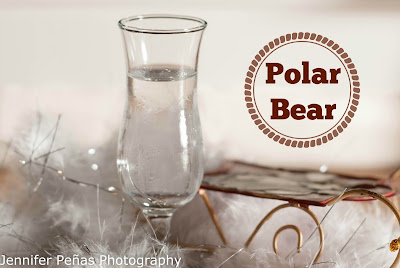 polar bear, christmas cocktail, christmas shot, peppermint schnapps, white creme de cacao, polar bear photo, polar bear picture, polar bear image