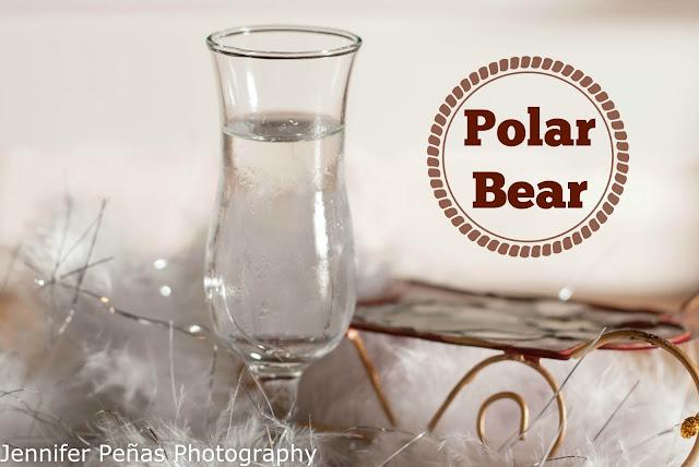 polar bear, christmas cocktail, christmas shot, peppermint schnapps, white creme de cacao, polar bear photo, polar bear picture, polar bear image