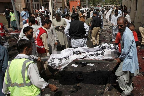 Graphic: Suicide bomber shatters, himself 63 people to death at Pakistan hospital