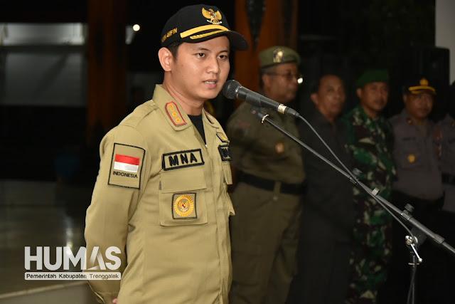 Plt Bupati dan Kapolres Trenggalek Berikan Pengarahan Pasukan Pengamanan Pemilu 2019