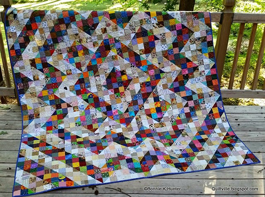 Split Nine Patch Quilt Free Pattern