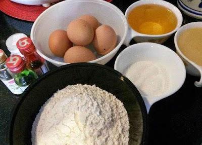 Bahan-Bahan Kek Minyak Kukus