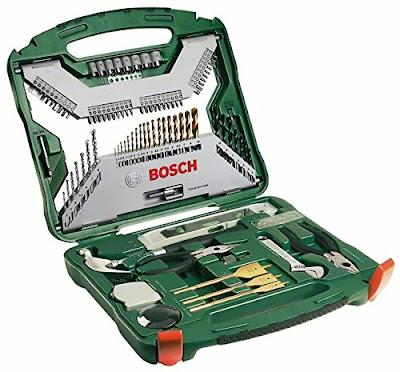 Bosch X-Line - Maletín de 103 unidades para taladrar y atornillar, color verde