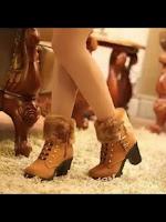 Sepatu Boots Wanita Kulit Cantik