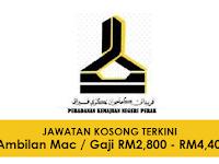 Jawatan Kosong Terkini di Perbadanan Kemajuan Negeri Perak - RM2,800 - RM4,400