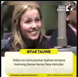 Vidio ini menunjukan bahwa tertawa memang benar benar bisa menular