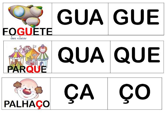 PALAVRAS COM GUA GUE GUI