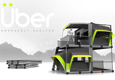 Casa de campaña innovadora modelo hecho en 3D con un estilo futurista muy creativo
