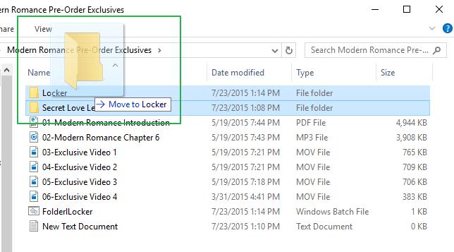 simpan file akan di hidden