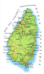 Carte de Sainte Lucie : lieux à découvrir pour visiter l'île anglophone des petites Antilles au cœur des Caraïbes .