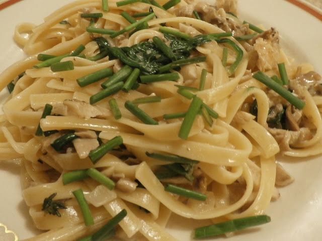 Fettuccini with King Oyster Mushrooms