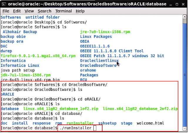 Oracle Database 11g Installation in Linux 6.2
