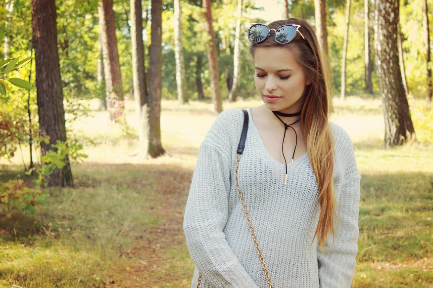 ☂ Ciepły, szary sweter!
