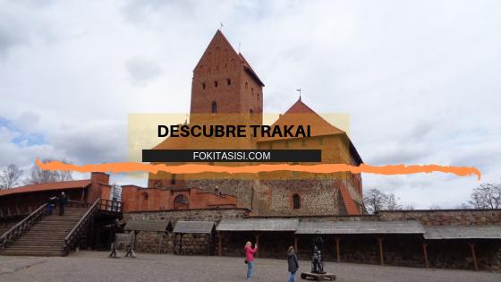 (Imagen)  Trakai Lituania con un castillo medieval que nos recuerda a la historia lituana en la época del Gran Duque y héroe medieval: Gediminas