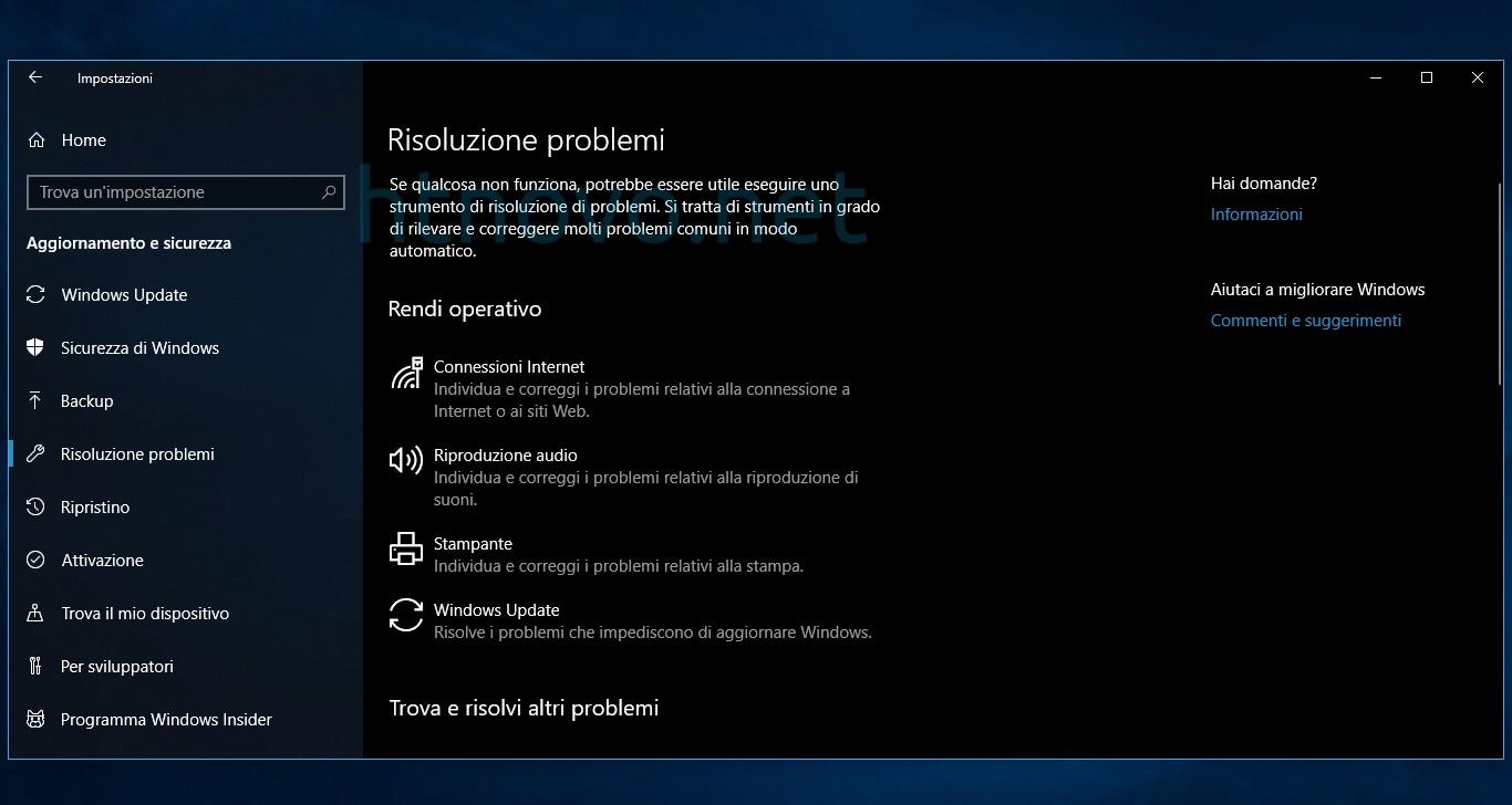 Microsoft-risoluzione-problemi