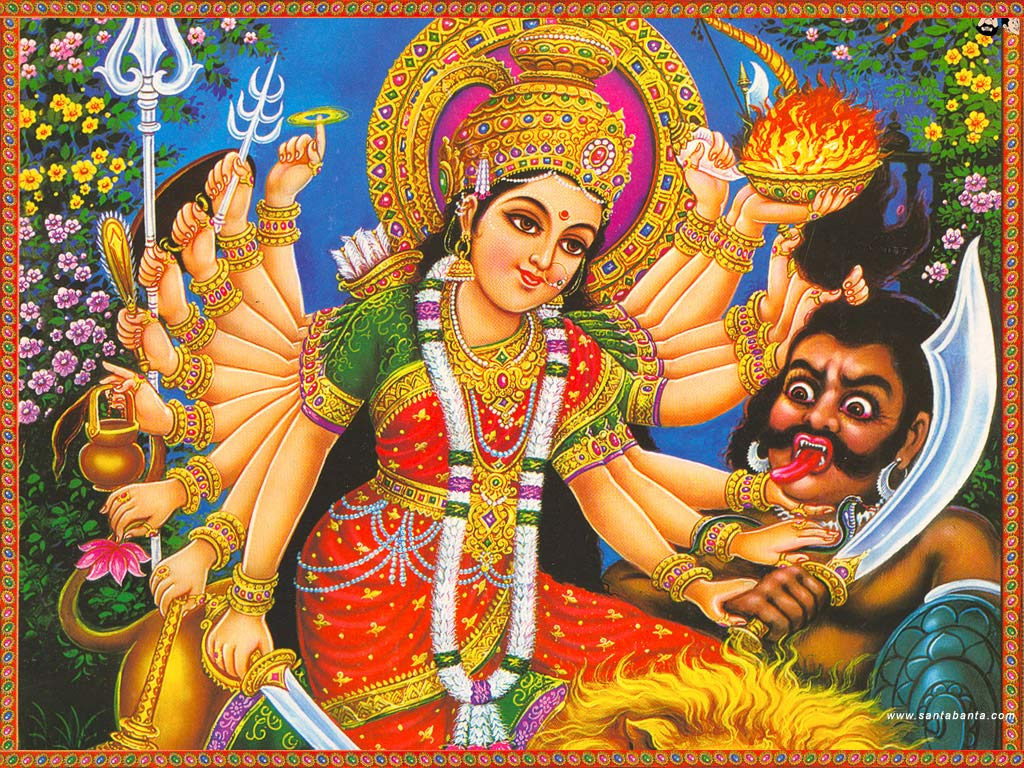 Hindu God Wallpapers: Hindu Goddess durga Wallpapers - Happy Navratr
