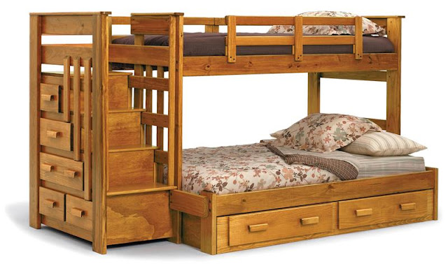 bunk beds with futon bottom