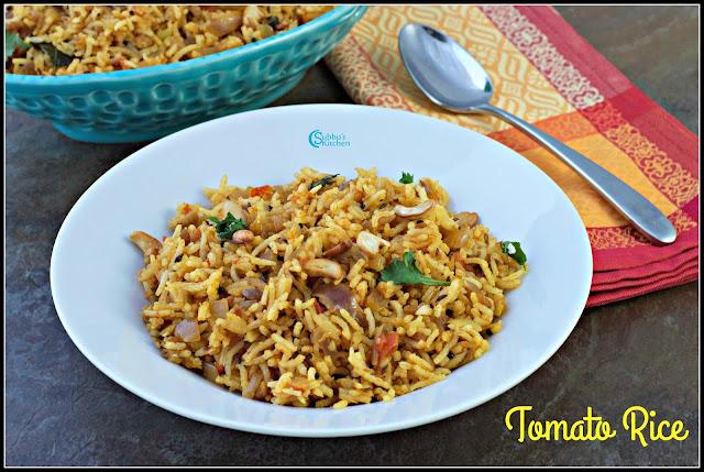 Tomato Rice (Thakkali Sadham)