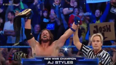 AJ Styles Wins WWE Championship On November 7th 2017 Smackdown