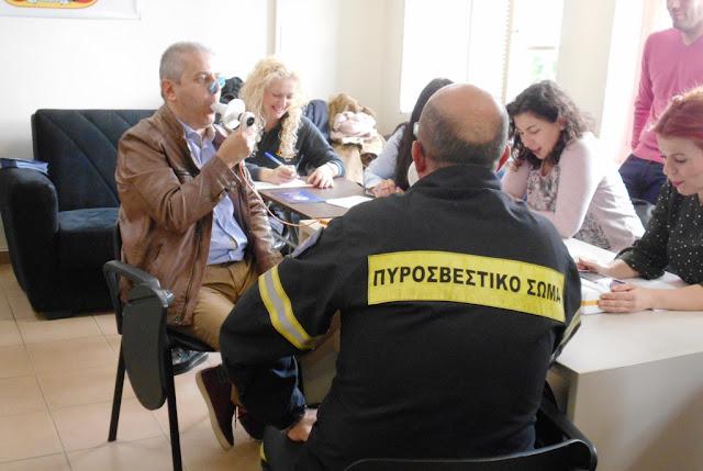 Ενημέρωση από Πνευμονολόγους και σπιρομέτρηση για τους πυροσβέστες της Αργολίδας