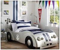 Increíbles camas que les encantarán a los pequeños autos de auto de carrera