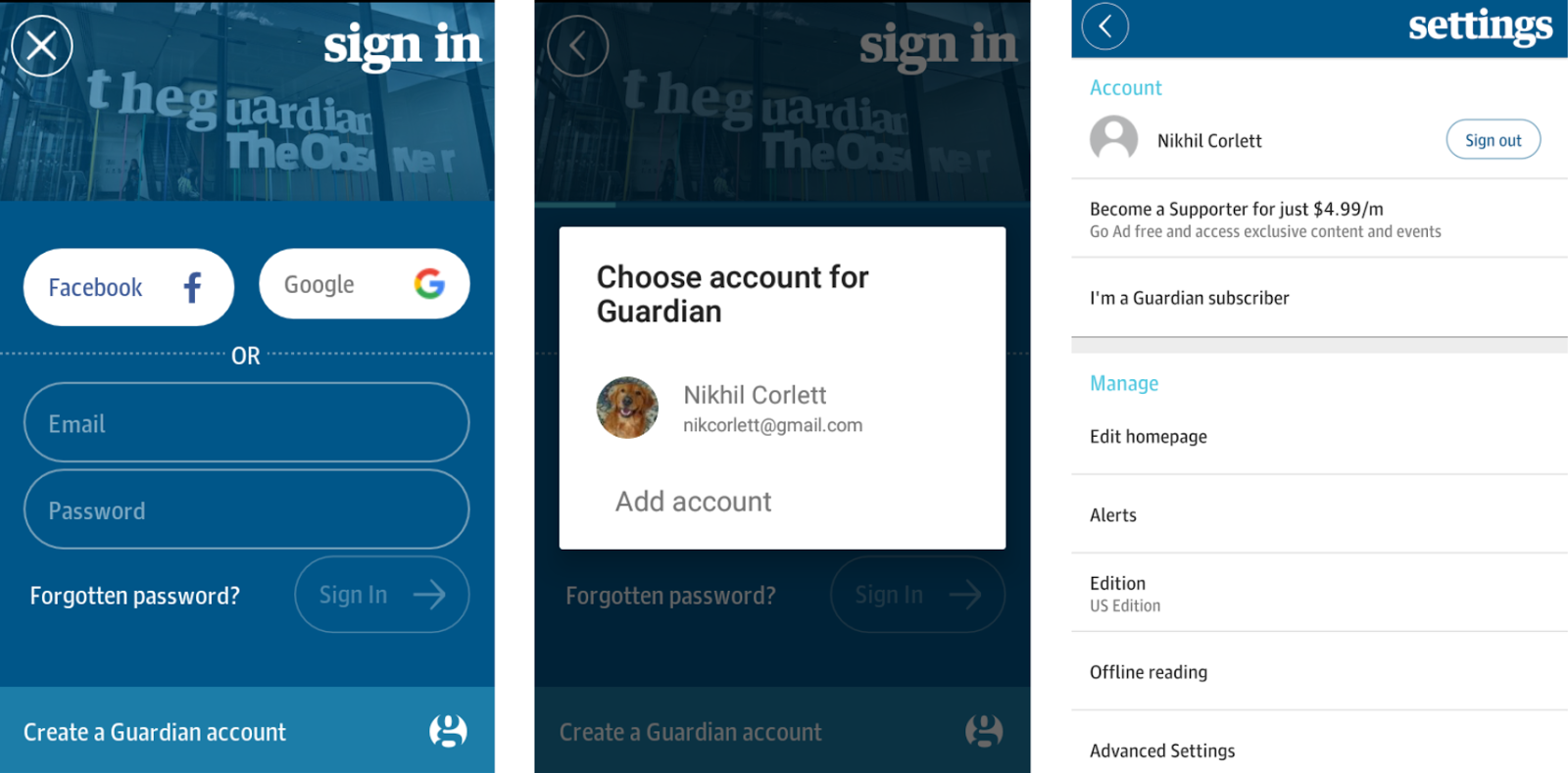 moving to google sign-in for a better user experience and higher