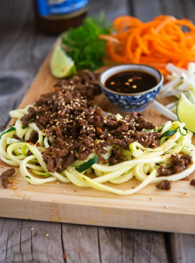 Thai Pork and Zoodle Salad