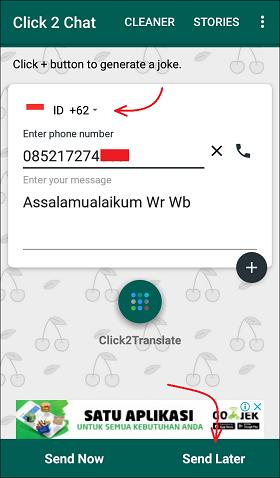 Cara Kirim Pesan Whatsapp Tanpa Menyimpan Nomer HP