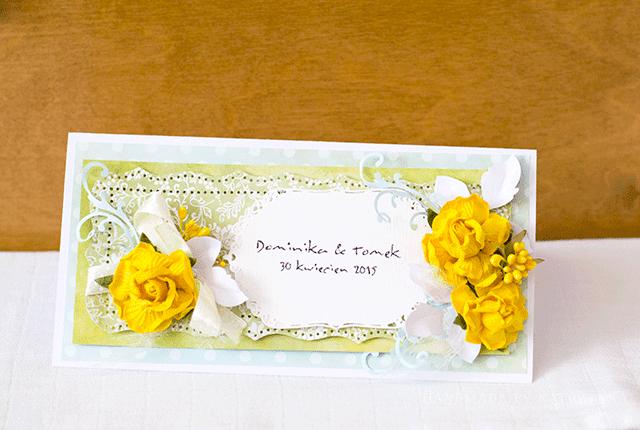 kartka na ślub, kartka ślubna, prezent, wesele, kartka z kieszonką, para młoda, ślub