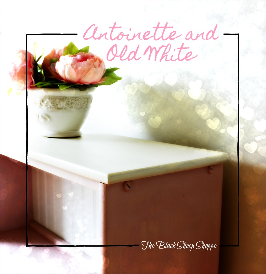 Antoinette pink and Old White chalk paint.