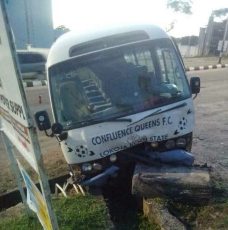 Female Footballers Involve In Bus Accident In Kogi, Their Driver Is Unconscious