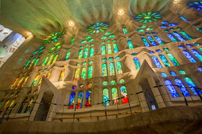 Sagrada Familia Stained Glass Barcelona by Laurence Norah