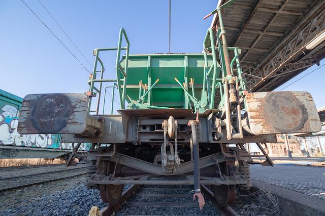vagón, vagón de tren abandonado, vías de tren, estación, Algodor