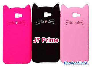 Funda silicona gatos J7 Prime