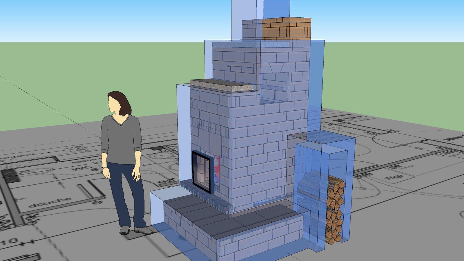 Artisan Poele De Masse construction d'un poêle de masse original - plans sur mesure