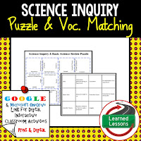 Science Inquiry, Earth Science Review Puzzles BUNDLE, Interactive Digital Notebook, Google Link, or PRINT Version, Test Prep, Unit Review, Vocabulary Activity, Earth Science Puzzles, Vocabulary, Test Prep, Unit Review