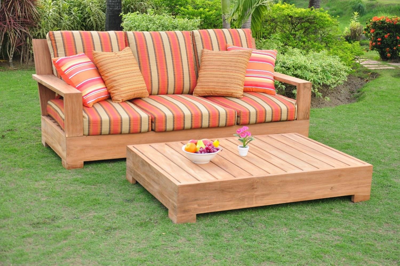 Sunbrella Fabric cushions (Seat & Back) for 1 Leveb Sofa Bench