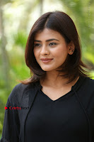 Actress Hebah Patel Stills in Black Mini Dress at Angel Movie Teaser Launch  0142.JPG
