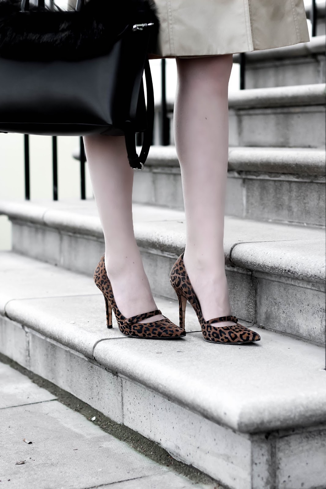 LK Bennett Leopard Print Pointed Court Shoes