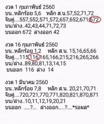 เลขเด่นหลักร้อยบน  7  8 เลขเด่นบน  20  21  70  71 สามตัวเด่น  720  721  770  771 820  821  870  871 ชุดบน-ล่าง  10  11  12  19  20  21