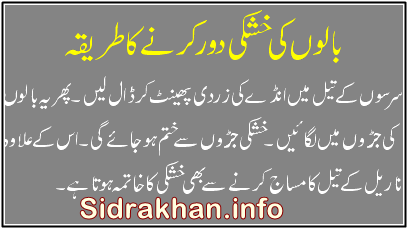 hair dandruff tips urdu