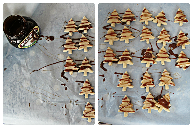 marmite Christmas tree biscuits