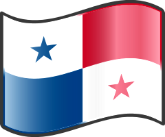 Panama wavy flag — WikiProject Nuvola, in the public domain