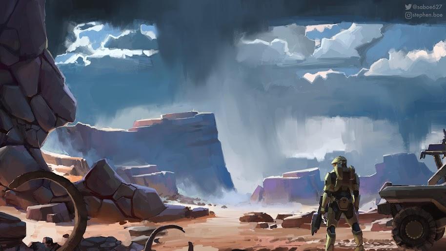 Halo Infinite Master Chief Art 8k Wallpaper 12