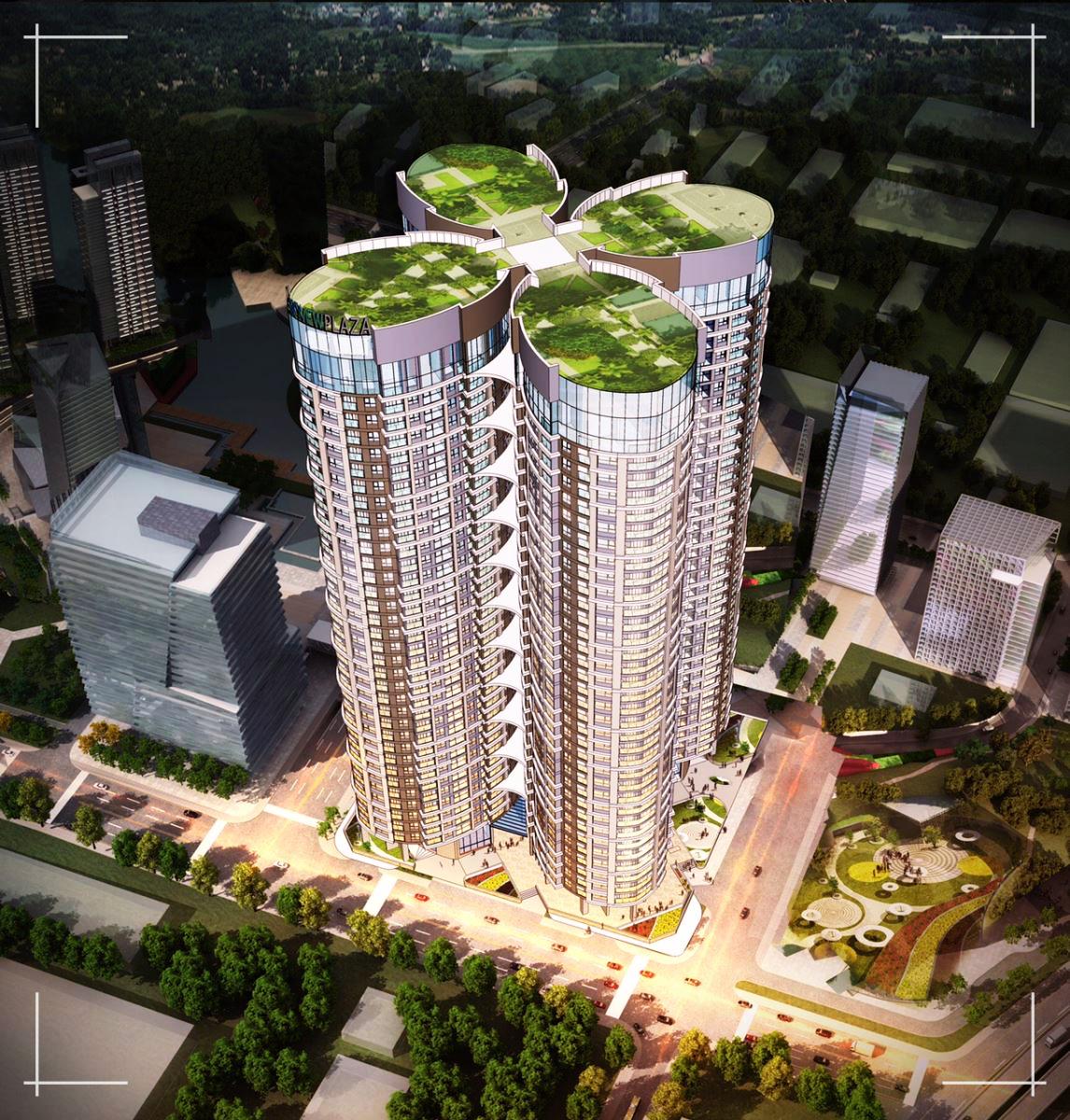 Phối cảnh tổng thể của chung cư Sky View Plaza