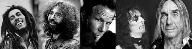 Hóspedes famosos do Chelsea Hotel, em Nova York: Bob Marley, Jerry Garcia, Tom Waits, Alice Cooper e Iggy Pop