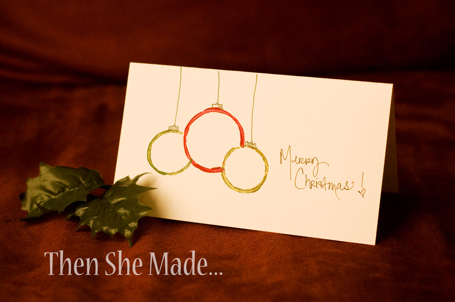 Then She Made Diy Christmas Cards From Empty Toilet Paper Rolls