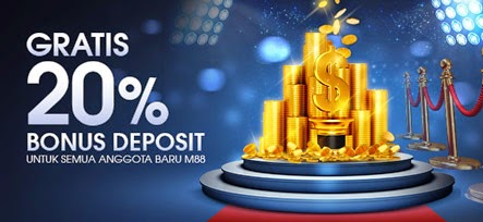 Taruhan Bola Online M88 Bonus Deposit 20%