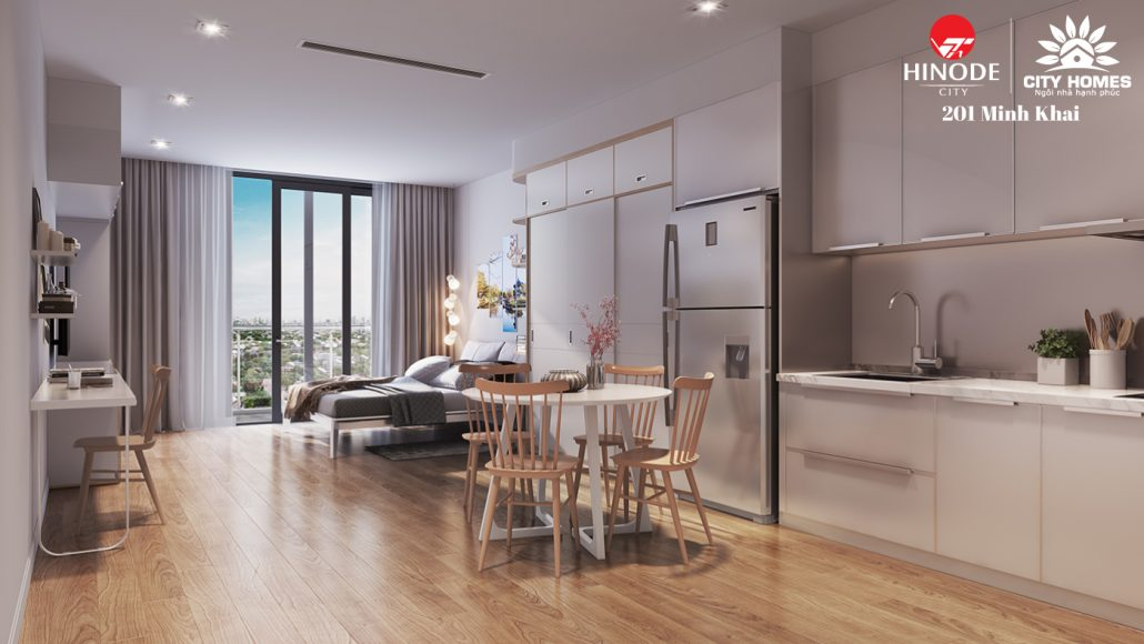 Thiết kế căn hộ mẫu Hinode city
